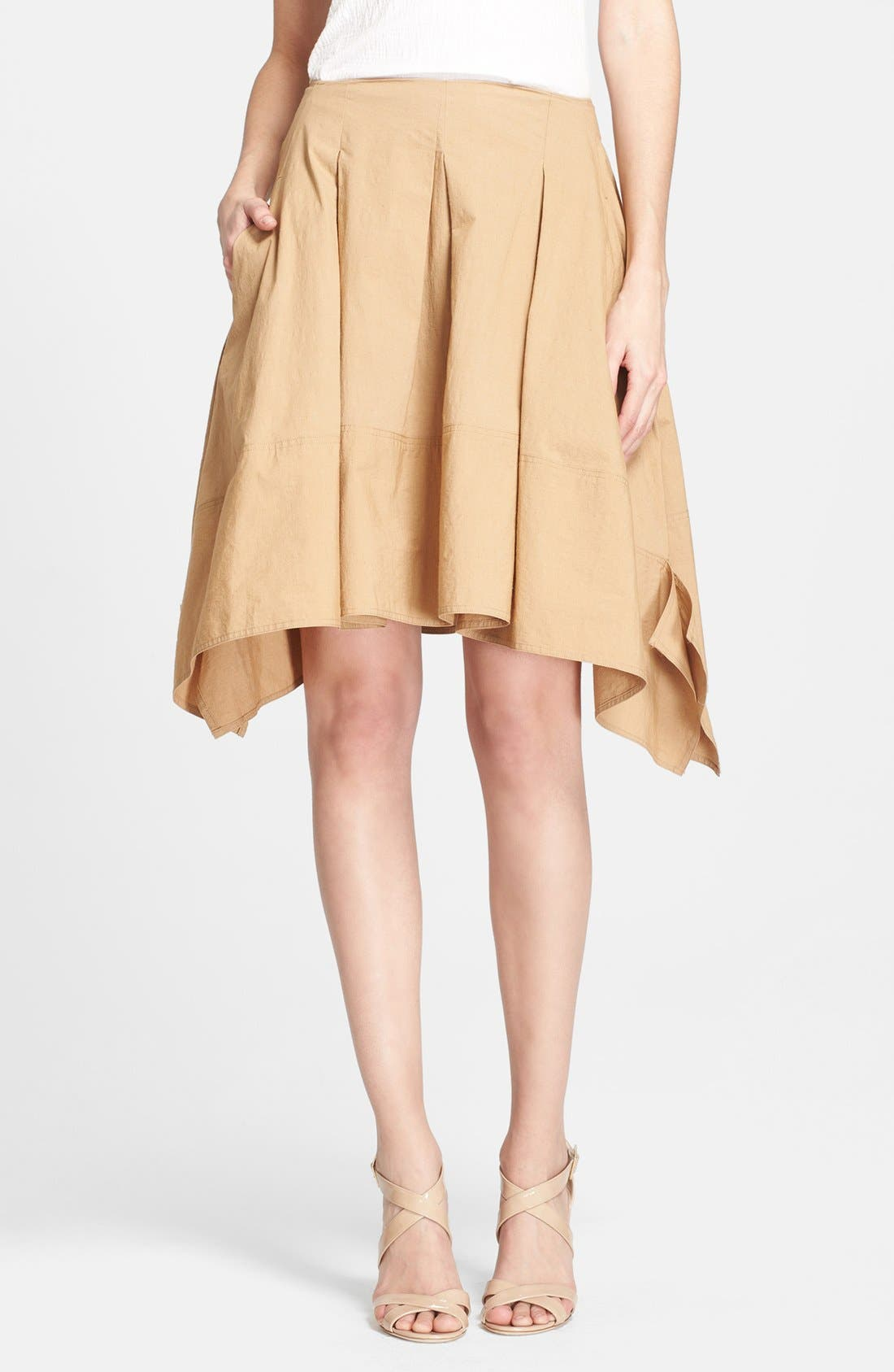 Alternate Image 1 Selected - Donna Karan New York Pleated Poplin Skirt