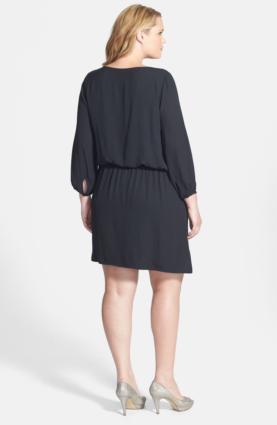 Alternate Image 2  - Vince Camuto 'Center Fold' Dress (Plus Size)