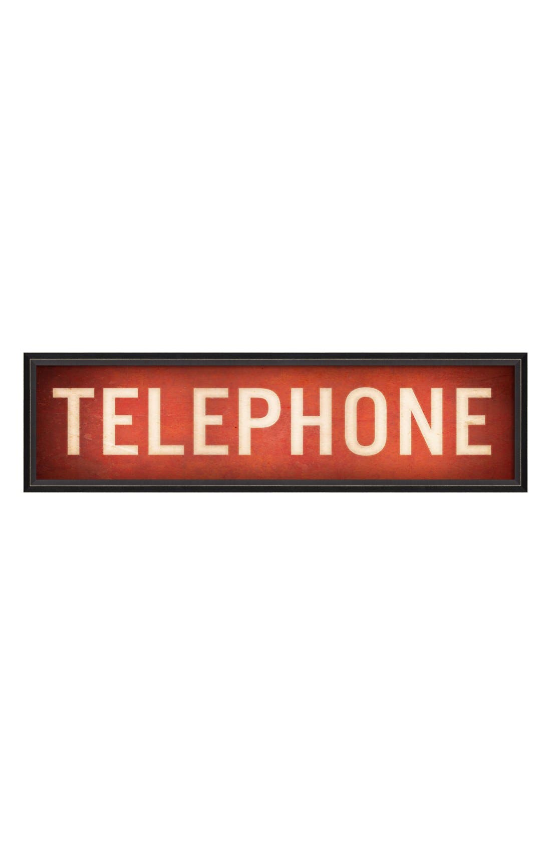 Alternate Image 1 Selected - Spicher and Company 'Telephone' Vintage Look Sign Artwork