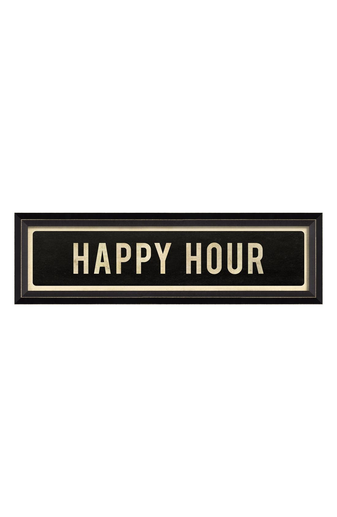 Main Image - Spicher and Company 'Happy Hour' Vintage Look Street Sign Artwork