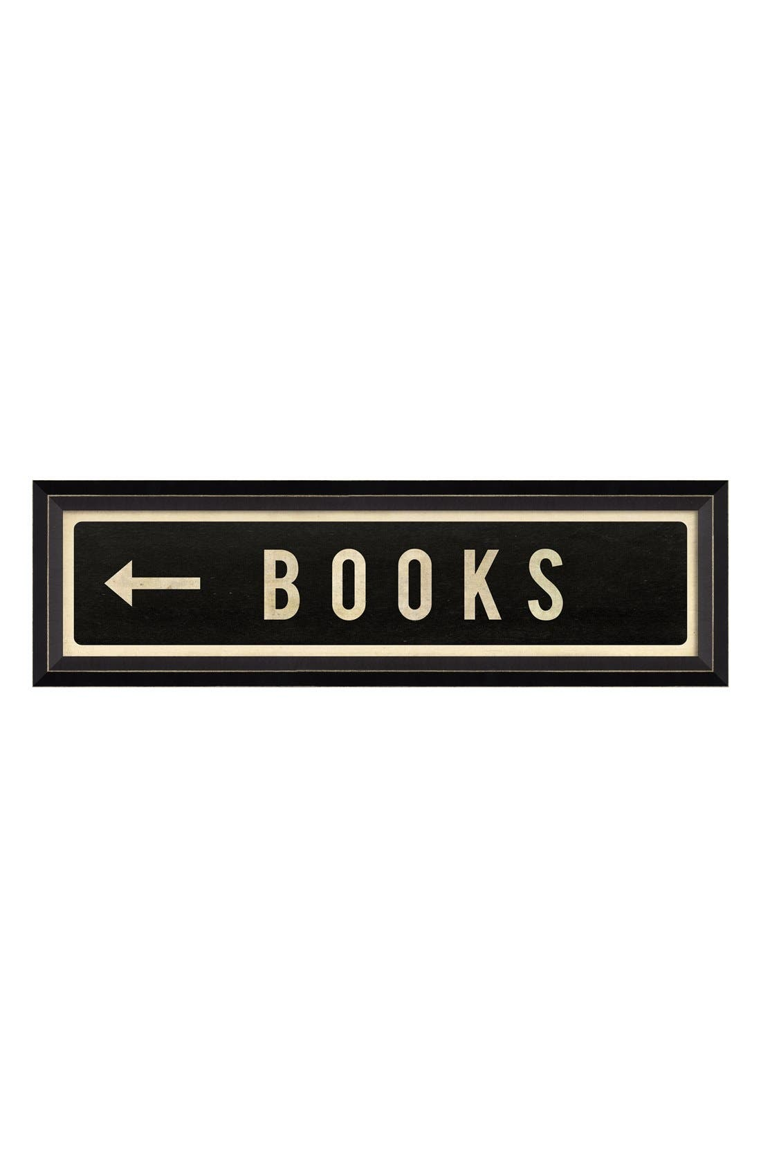 Alternate Image 1 Selected - Spicher and Company 'Books' Vintage Look Sign Artwork