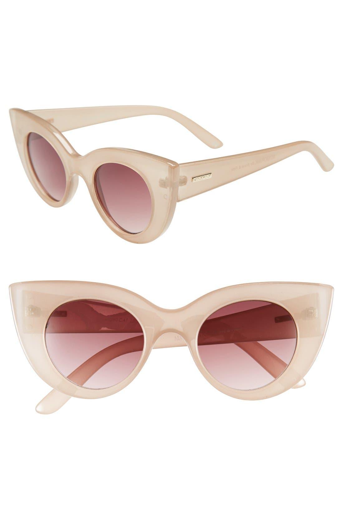 Main Image - MINKPINK 'Love Cat' 44mm Sunglasses