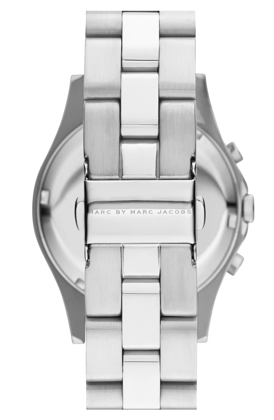 Alternate Image 2  - MARC BY MARC JACOBS 'Henry Glitz' Chronograph Bracelet Watch, 37mm