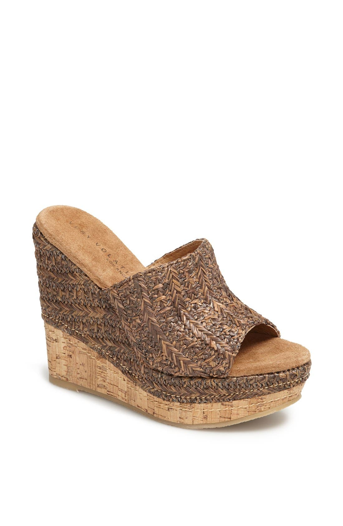 Main Image - Very Volatile 'Sandstone' Wedge Sandal