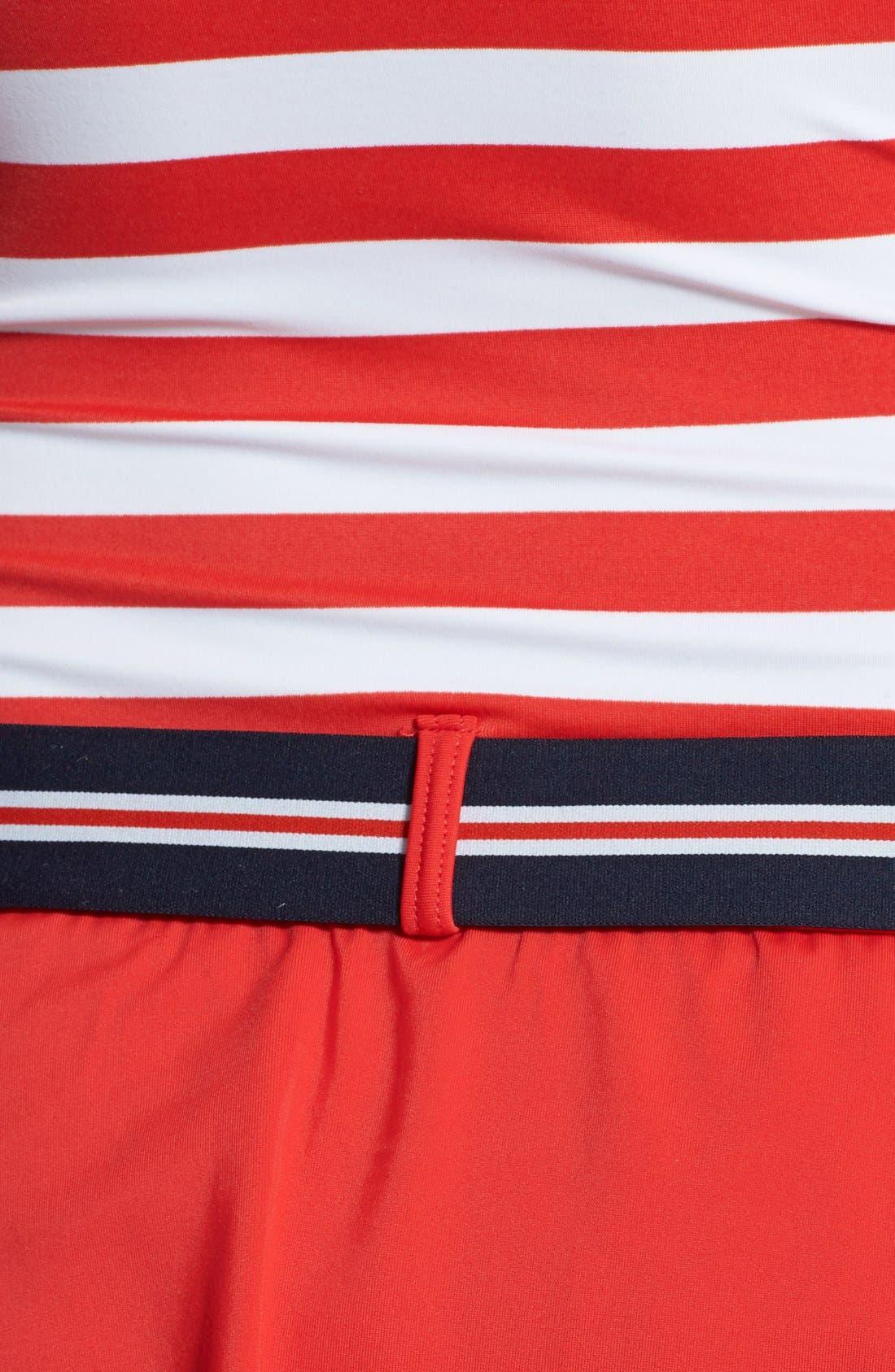 Alternate Image 3  - Tommy Hilfiger Stripe Belted Halter Swimdress