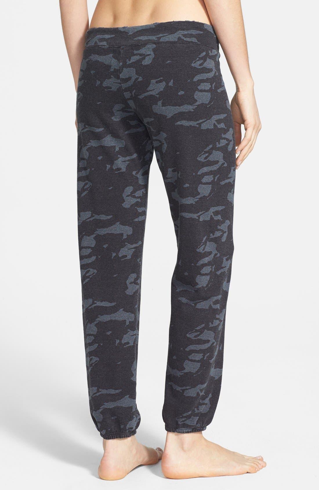 Alternate Image 2  - Monrow Camo Print Vintage Fleece Sweatpants