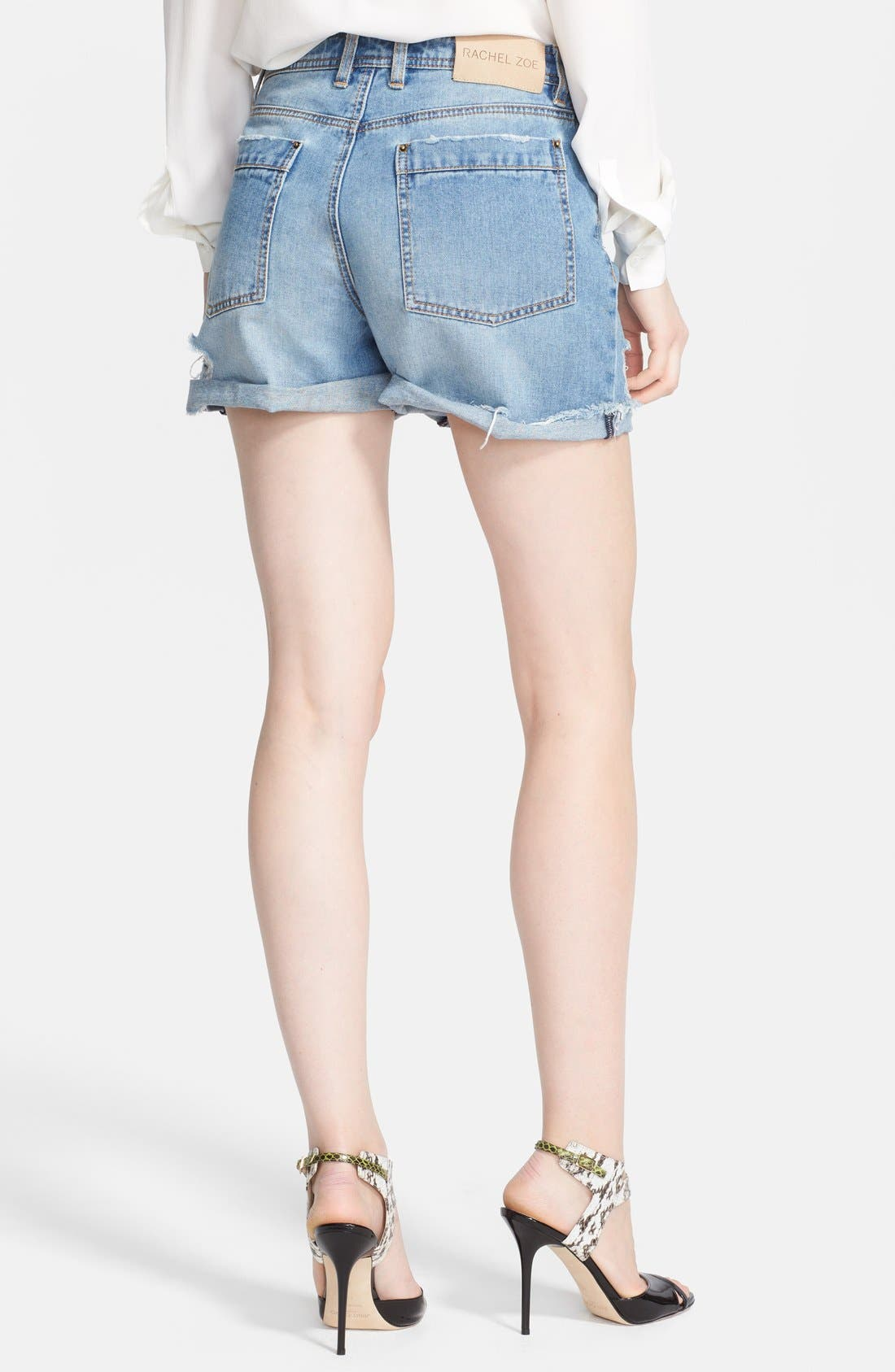 Alternate Image 2  - Rachel Zoe 'Jocelyn' Destroyed Boyfriend Jean Shorts