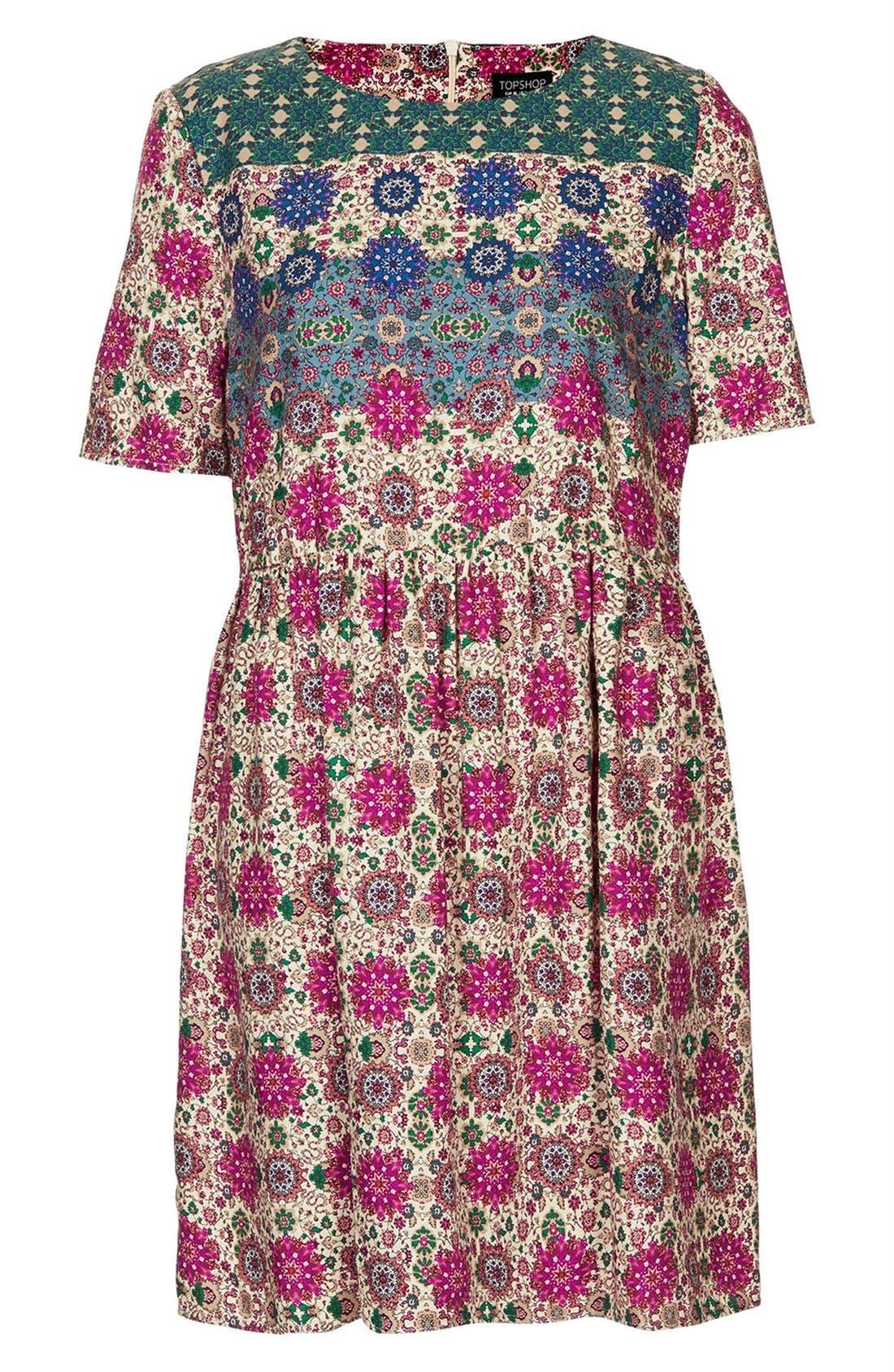 Alternate Image 3  - Topshop 'Folk Border' Print Day Dress