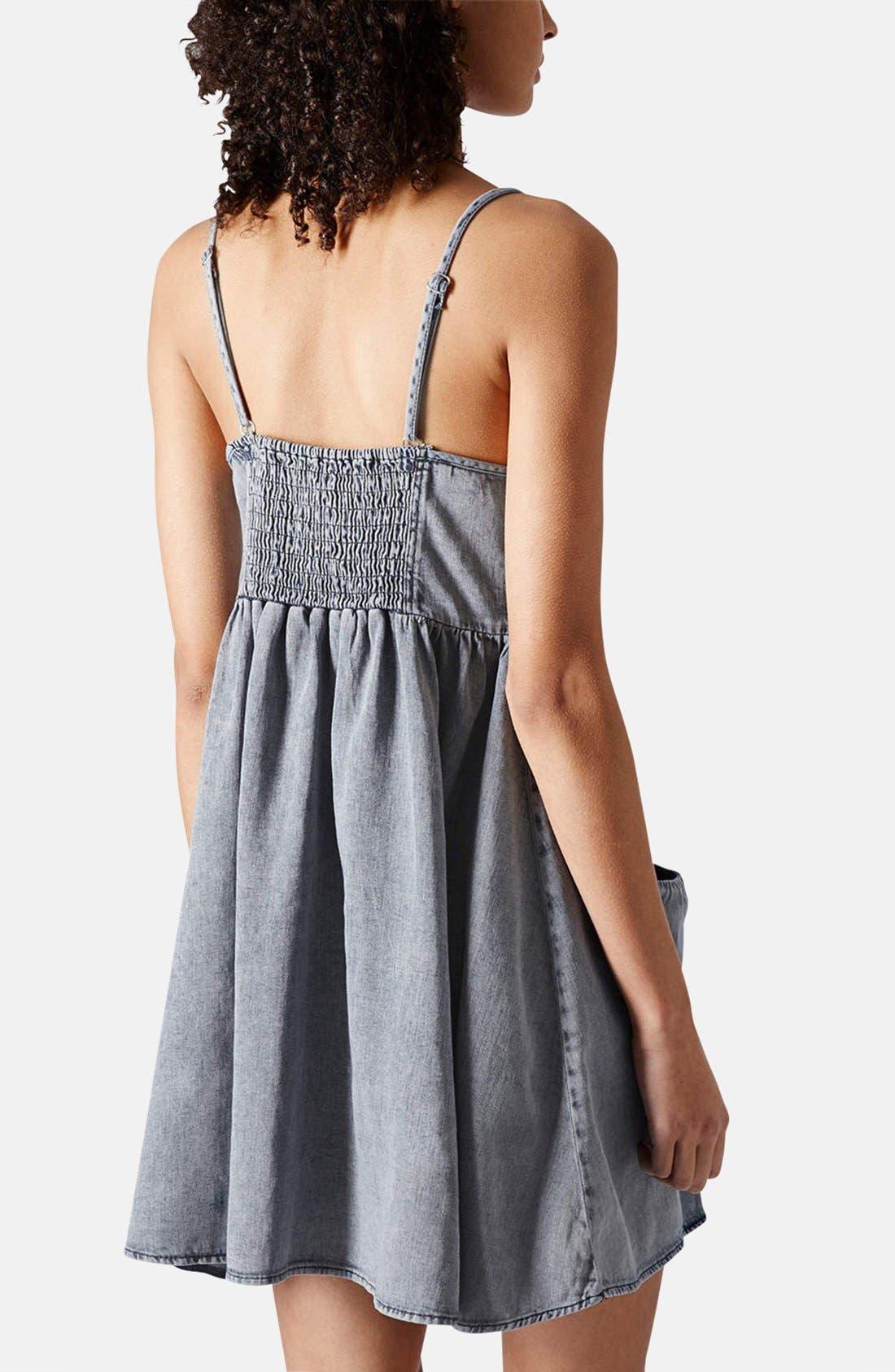 Alternate Image 2  - Topshop Moto Denim Babydoll Dress