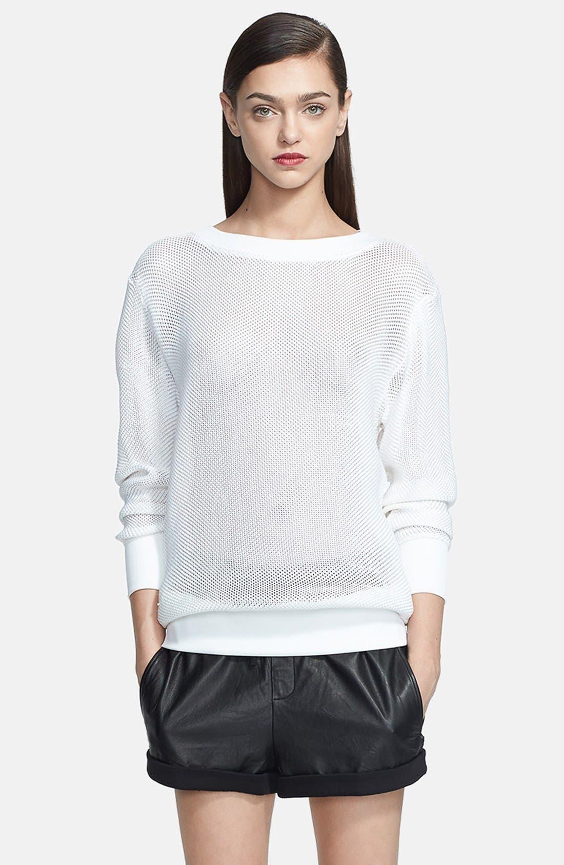 Alternate Image 2  - Helmut Lang Sweater & Leather Shorts