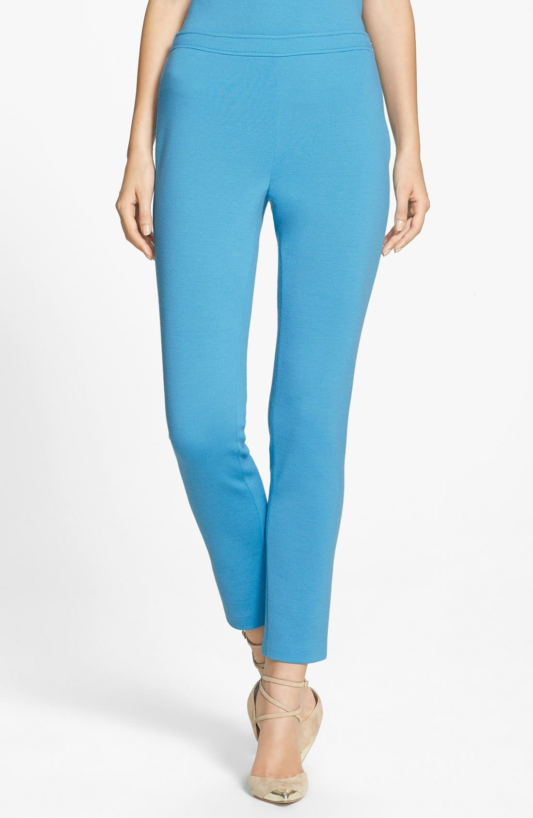 Main Image - St. John Collection 'Alexa' Stretch Milano Knit Ankle Pants