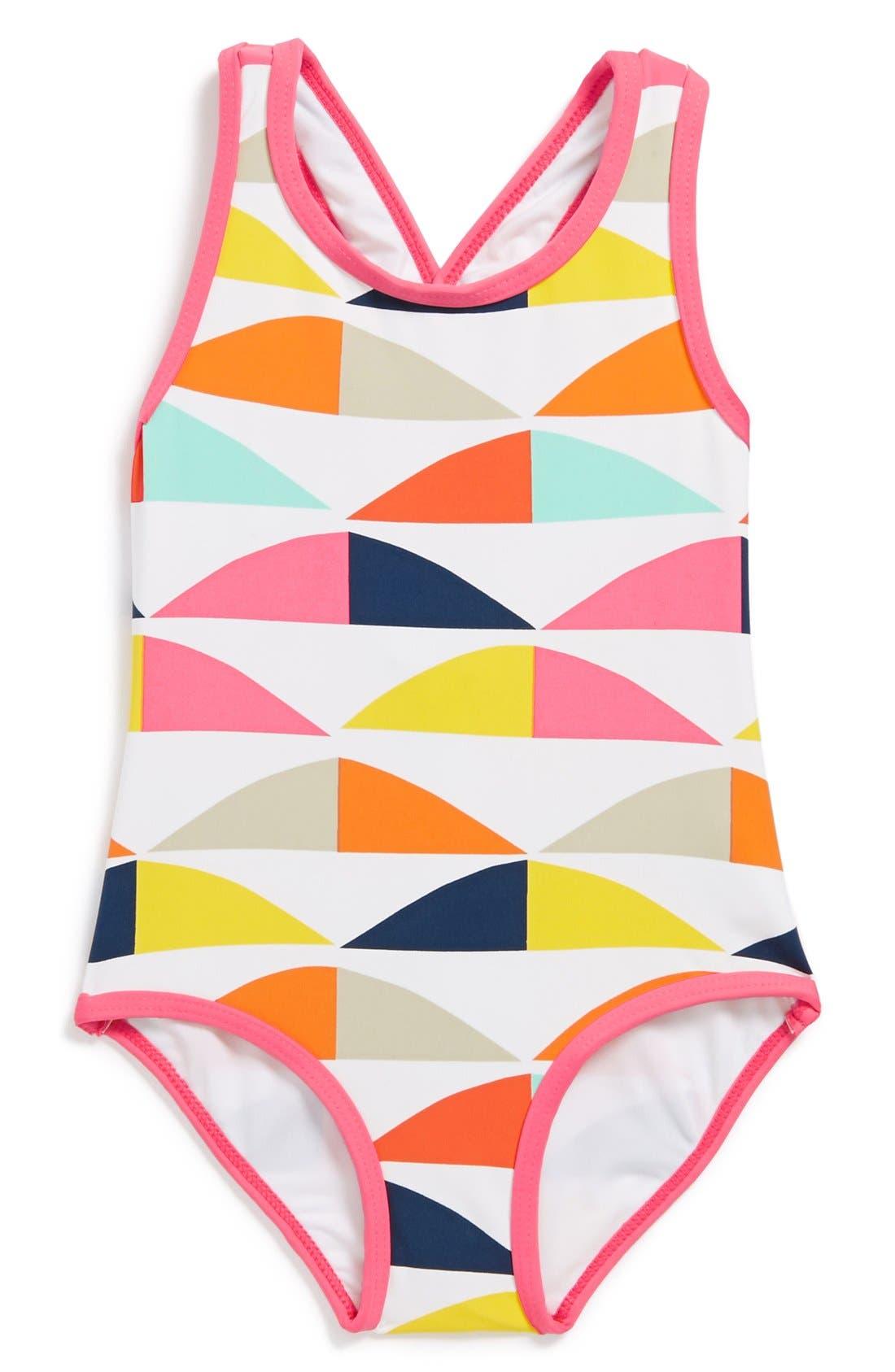 Alternate Image 1 Selected - Marimekko 'Polsku' One-Piece Swimsuit (Baby Girls)