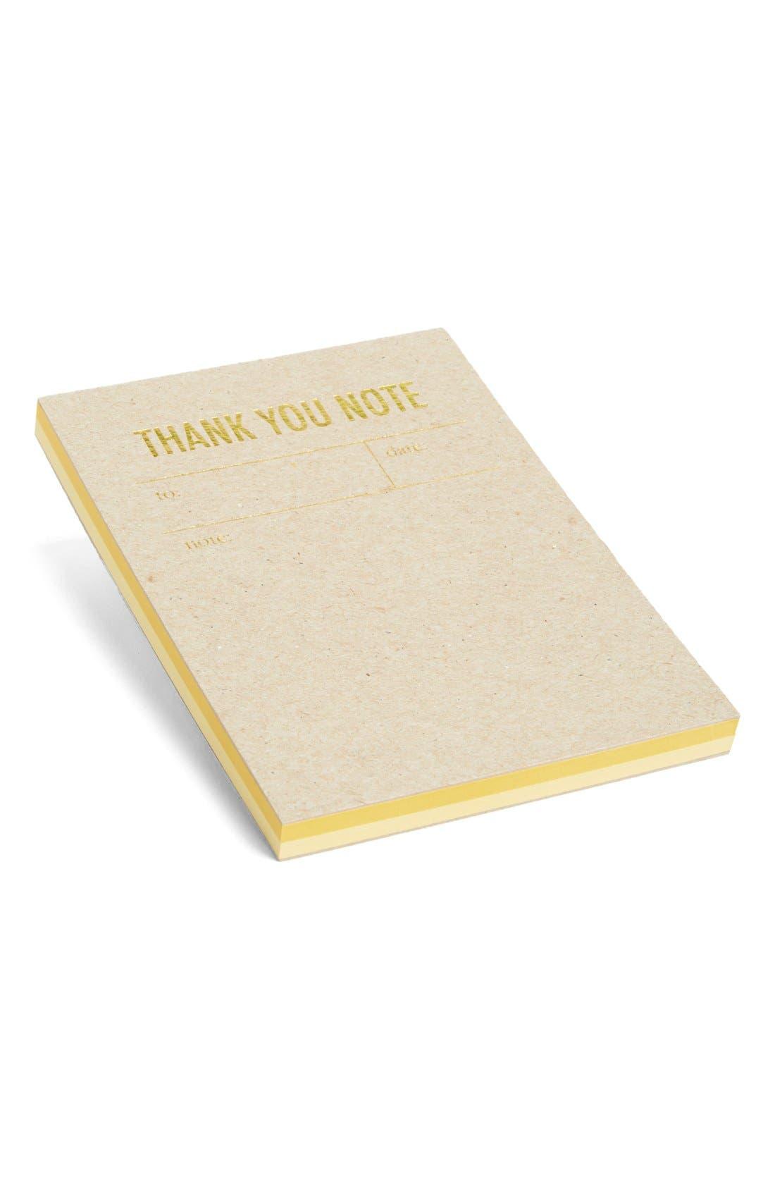 Main Image - Tokketok 'Thank You Note' Letterpress Note Cards (Set of 30)