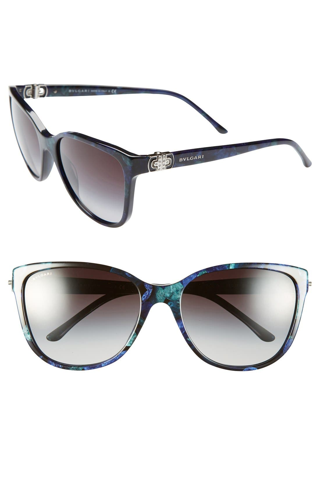 Main Image - BVLGARI 58mm Oversized Sunglasses