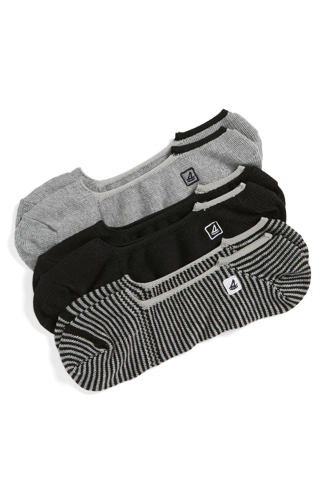 Alternate Image 1 Selected - Sperry Skimmers Feed Assorted 3-Pack Socks