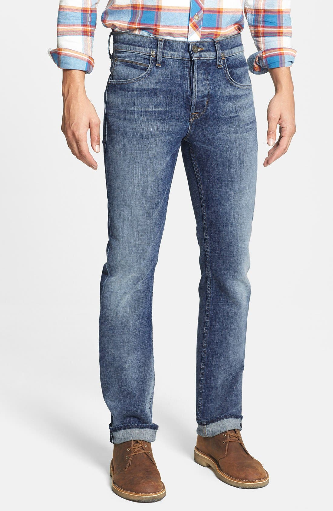 Main Image - Hudson Jeans 'Byron' Straight Leg Jeans (Rebel Roadside)