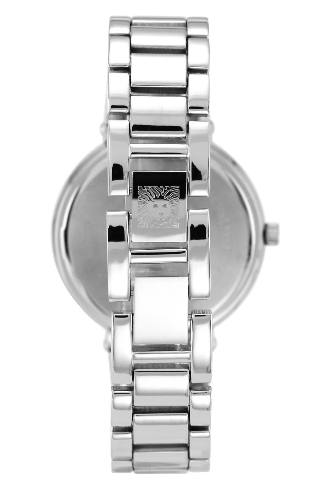 Alternate Image 2  - Anne Klein Crystal Bezel Bracelet Watch, 32mm