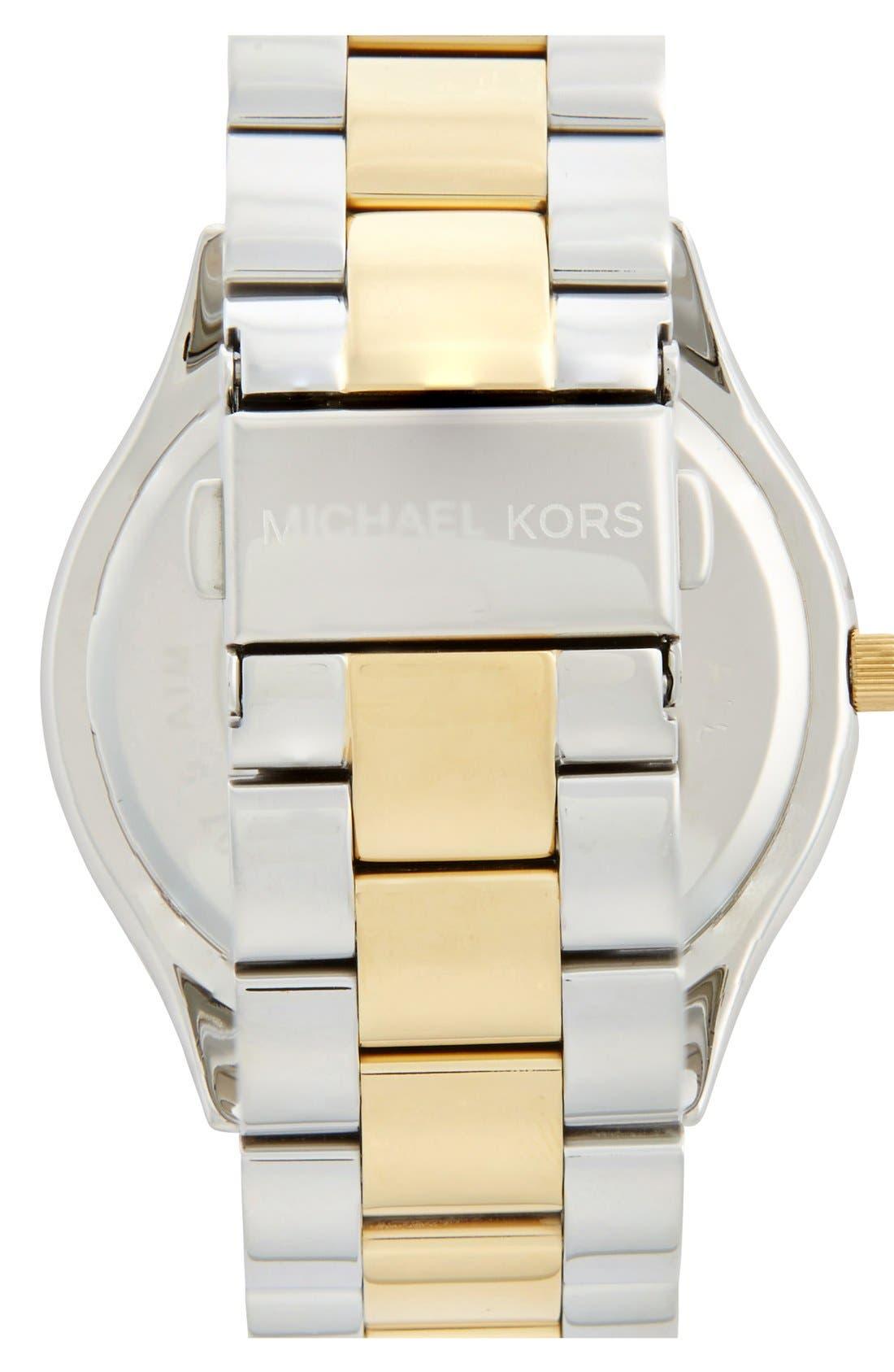 Alternate Image 2  - Michael Kors 'Slim Runway' Bracelet Watch, 42mm