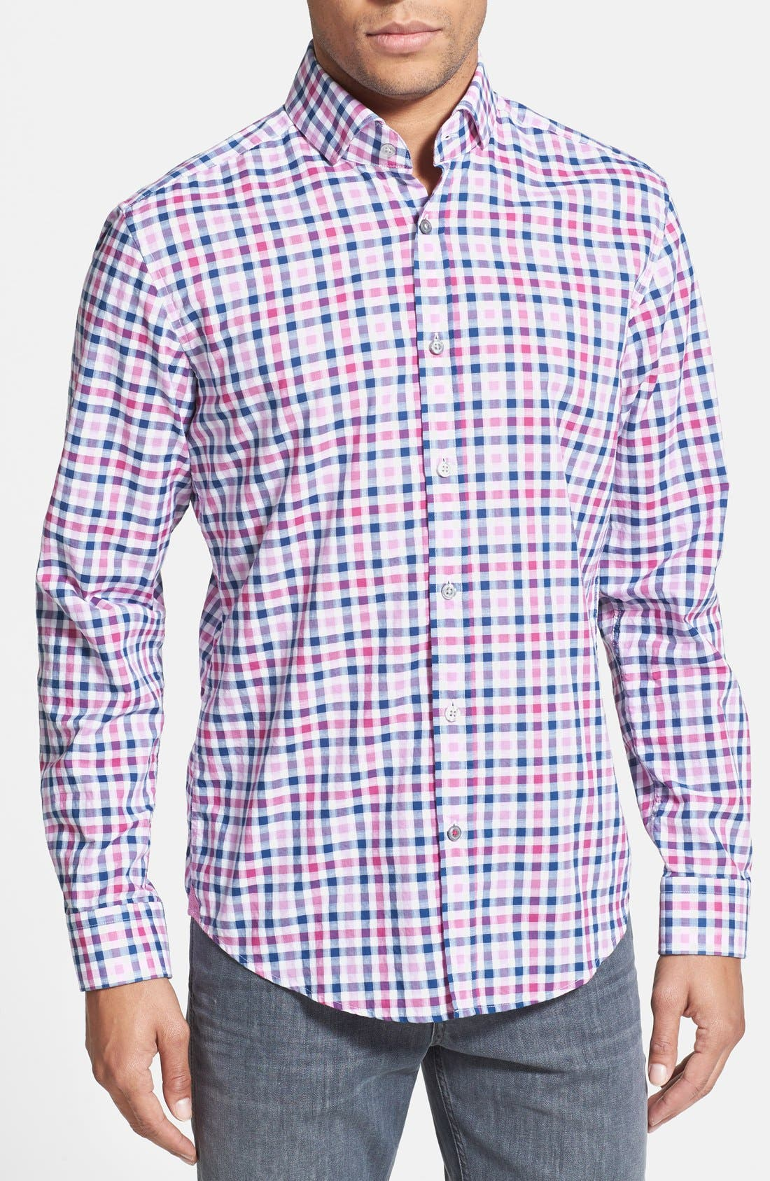 Main Image - BOSS HUGO BOSS 'Mason' Slim Fit Gingham Sport Shirt
