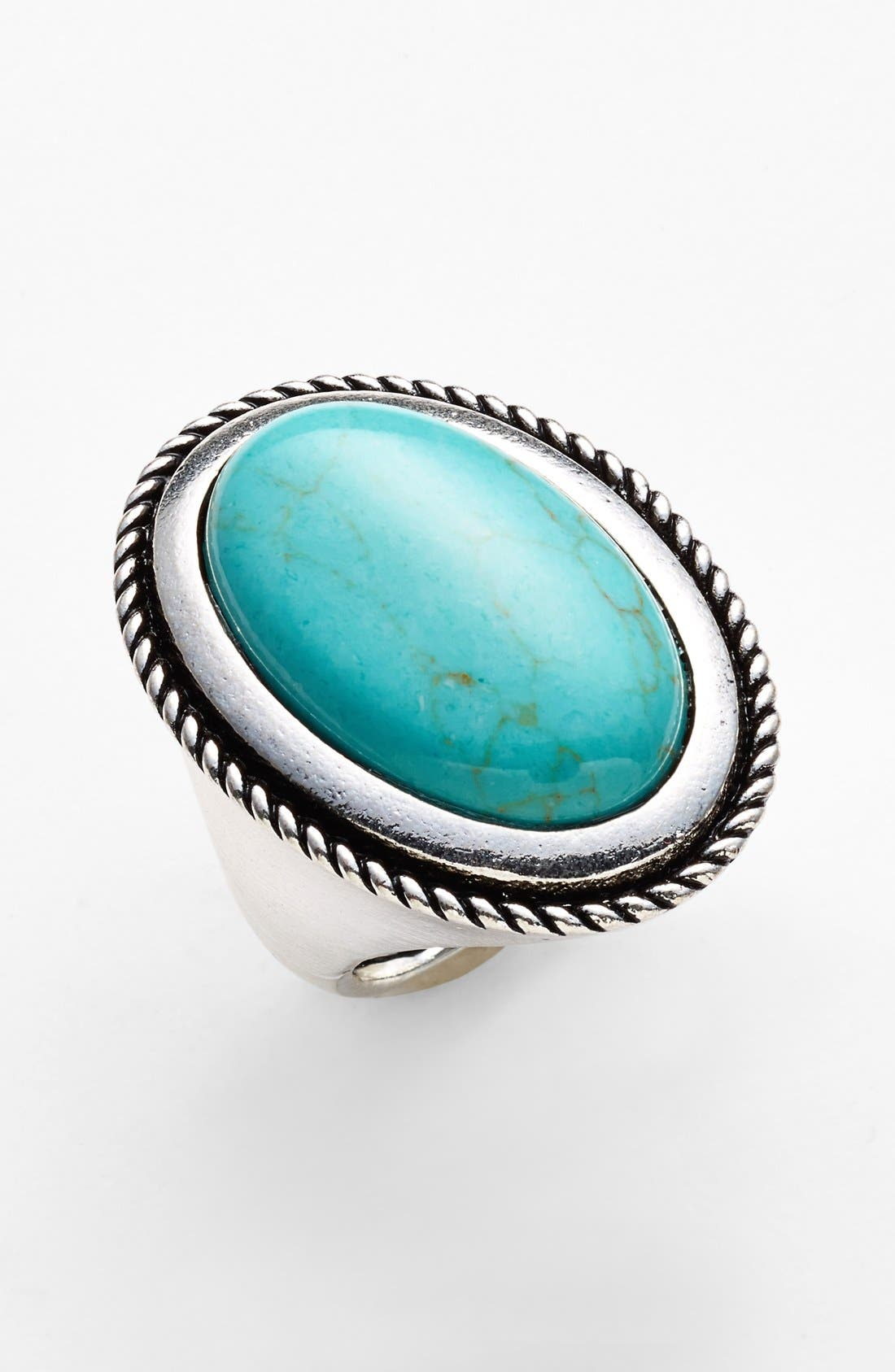 Alternate Image 1 Selected - Spring Street Oval Reconstituted Turquoise Ring