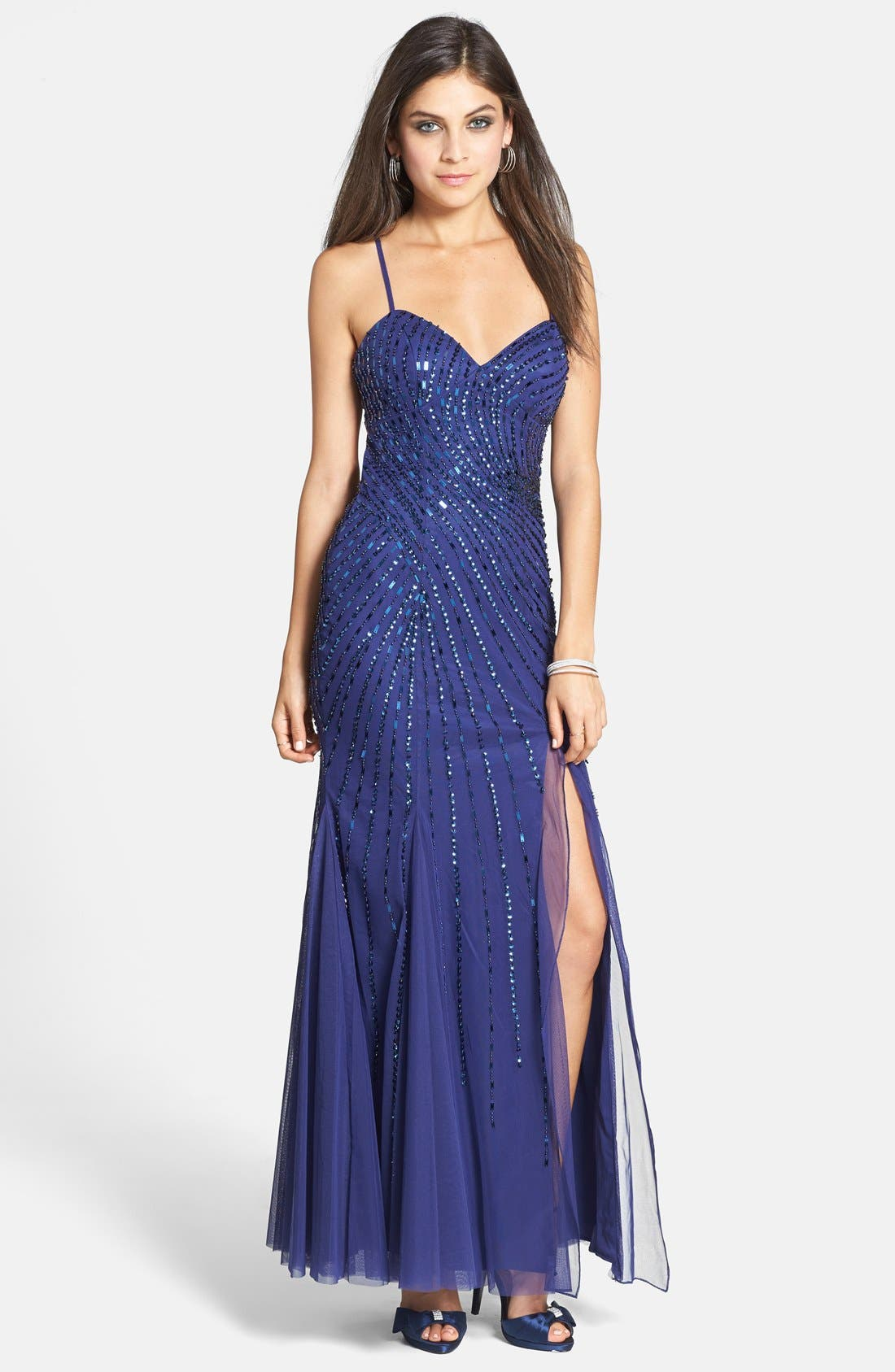 Alternate Image 1 Selected - Sean Collection Beaded Mesh Gown