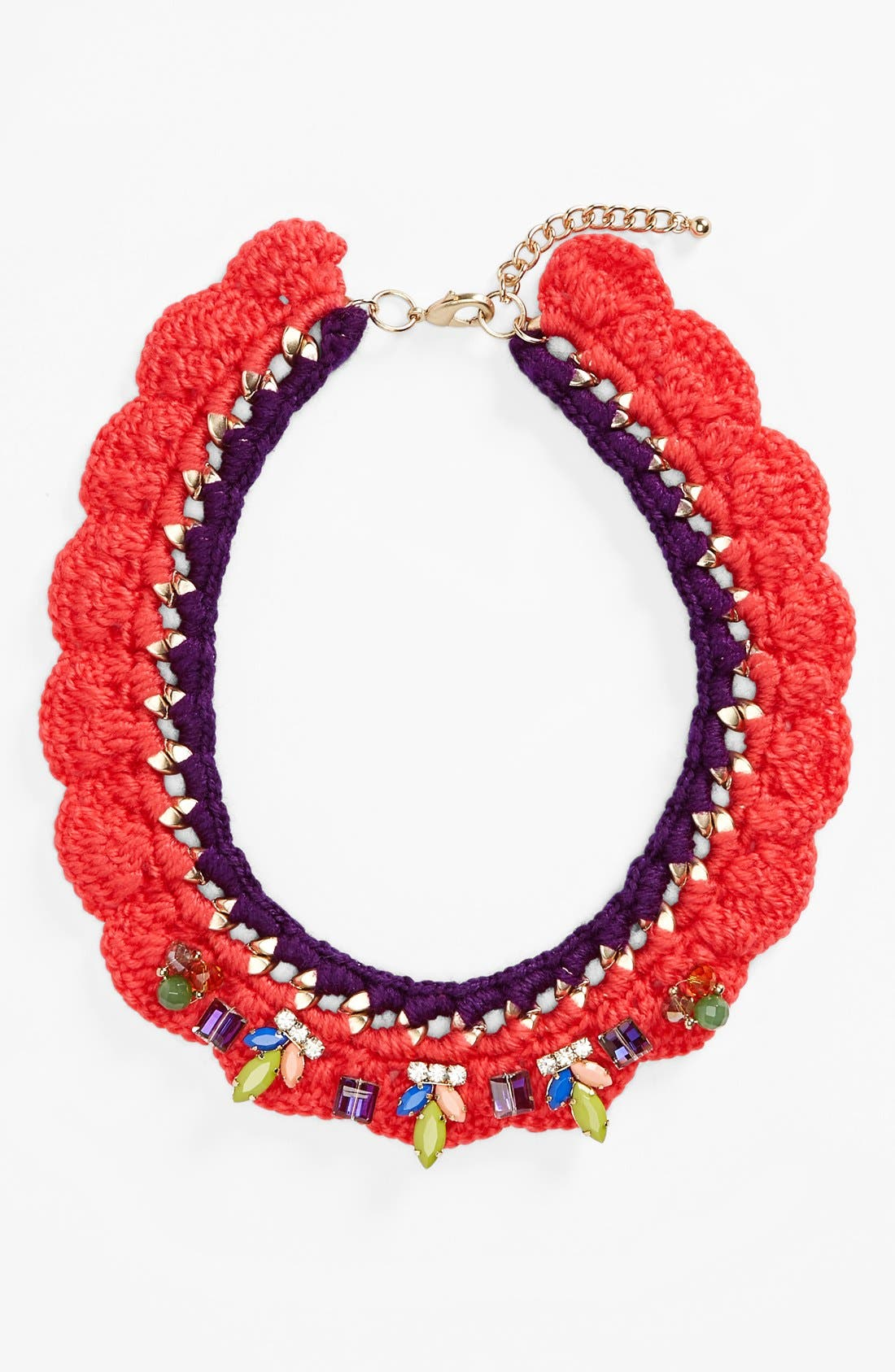 Alternate Image 2  - Guinevere Crochet Collar Necklace