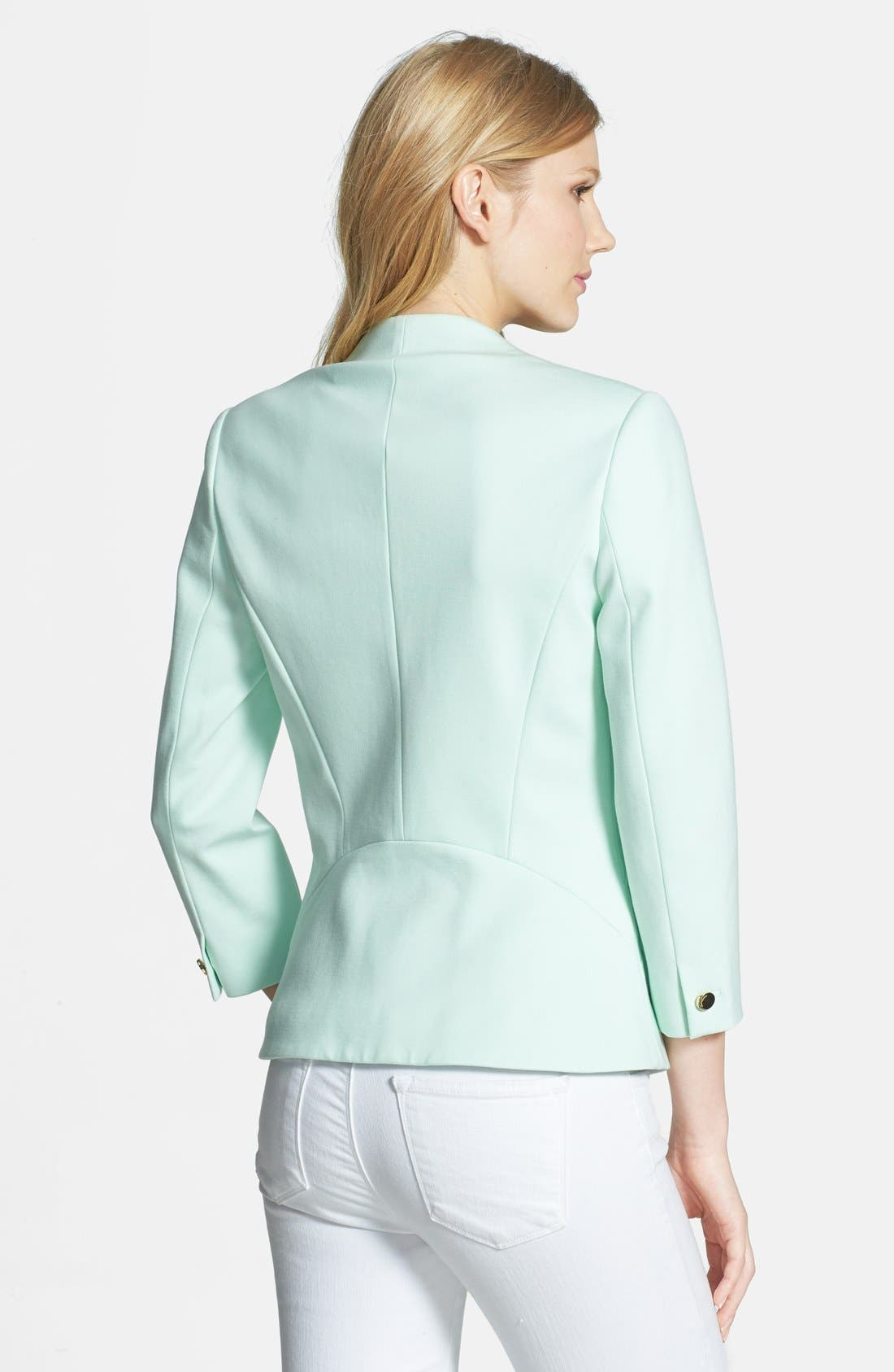 Alternate Image 2  - Ted Baker London One-Button Ponte Knit Jacket