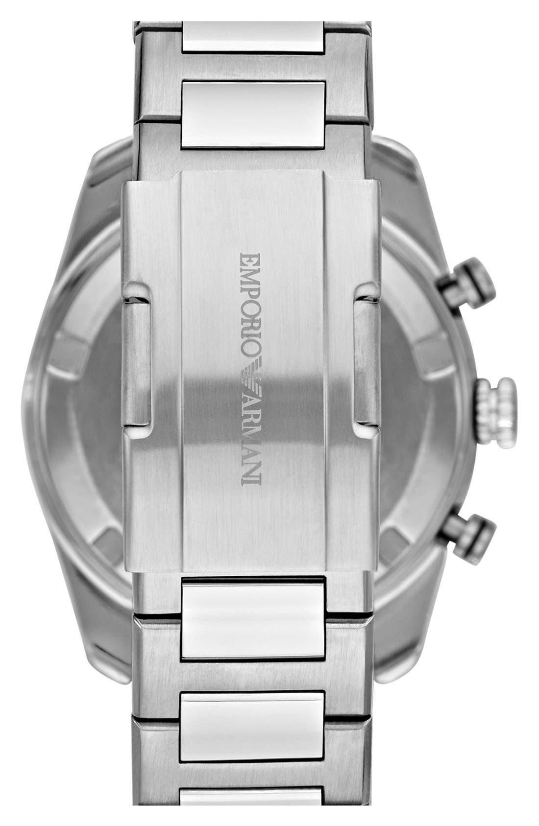 Alternate Image 3  - Emporio Armani Chronograph Bracelet Watch, 43mm