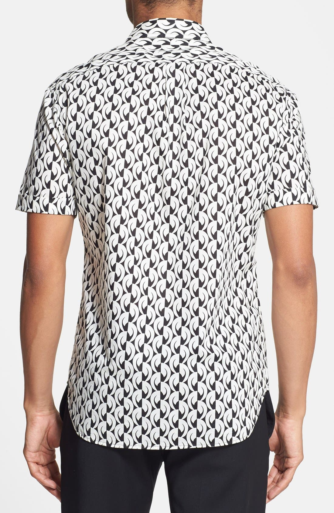 Alternate Image 2  - MARC BY MARC JACOBS 'Bellflower' Print Short Sleeve Sport Shirt
