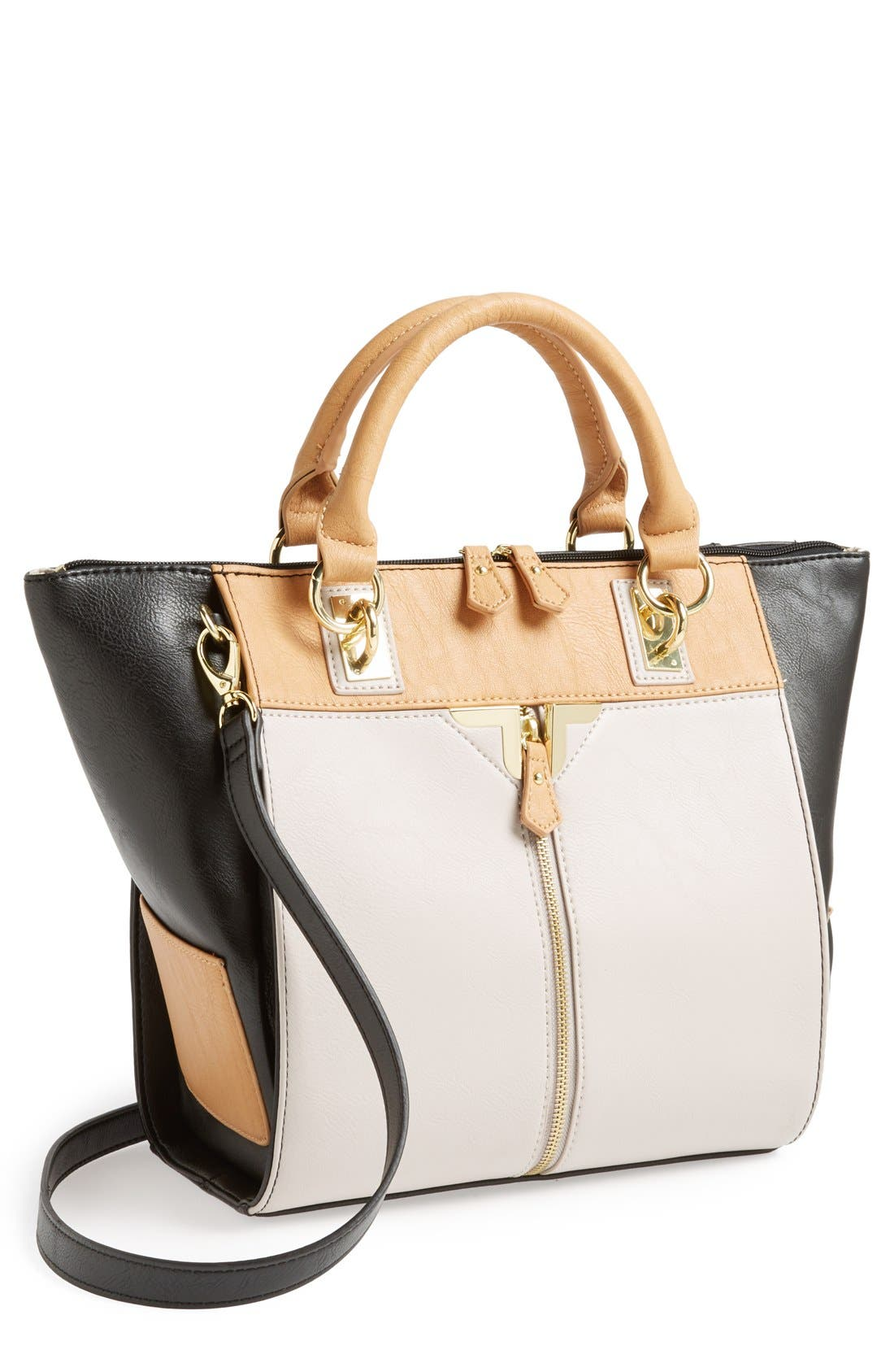 Alternate Image 1 Selected - Danielle Nicole 'Alexa' Faux Leather Satchel