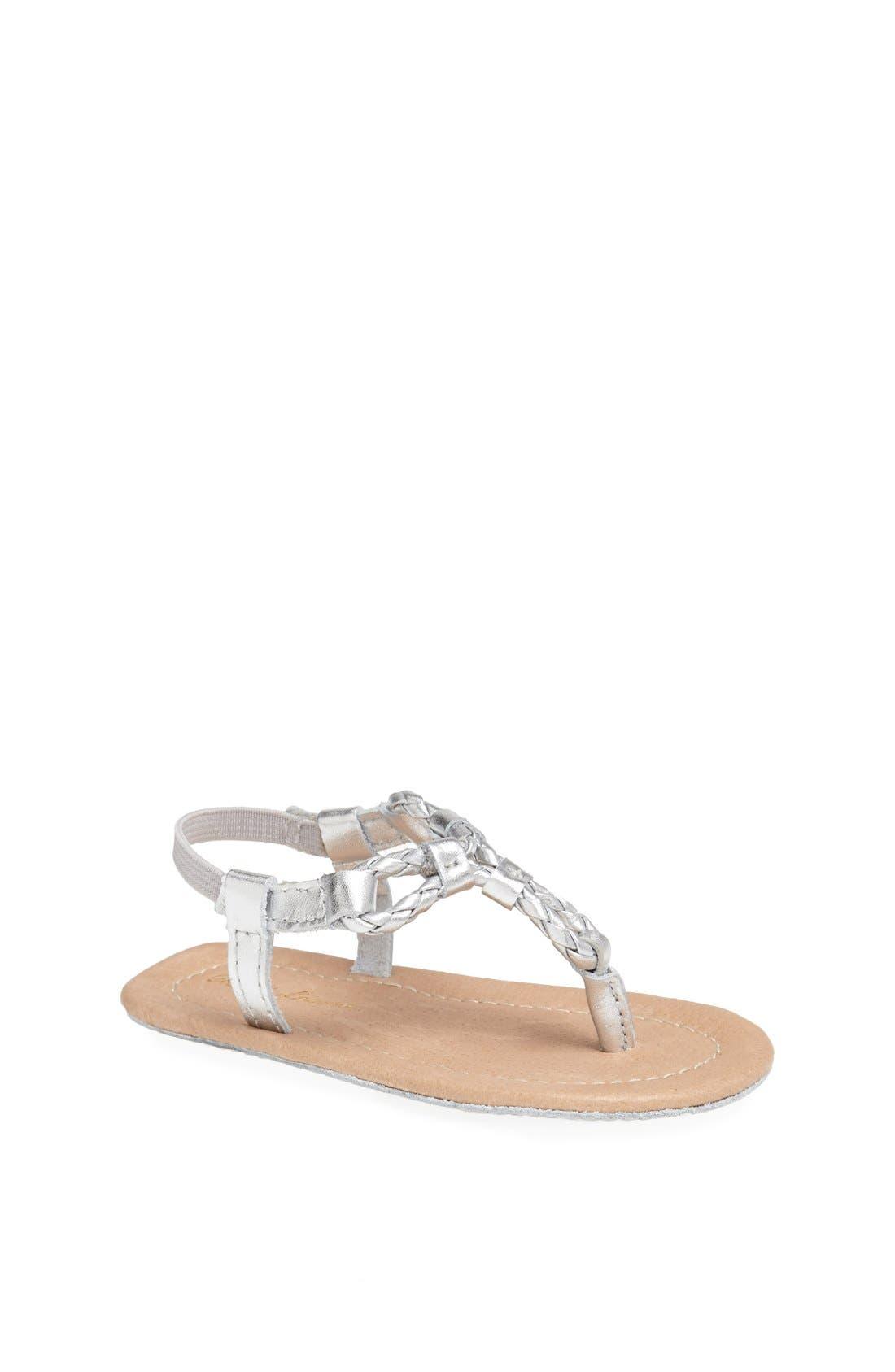 Main Image - Ralph Lauren Layette Leather Sandal (Baby Girls)