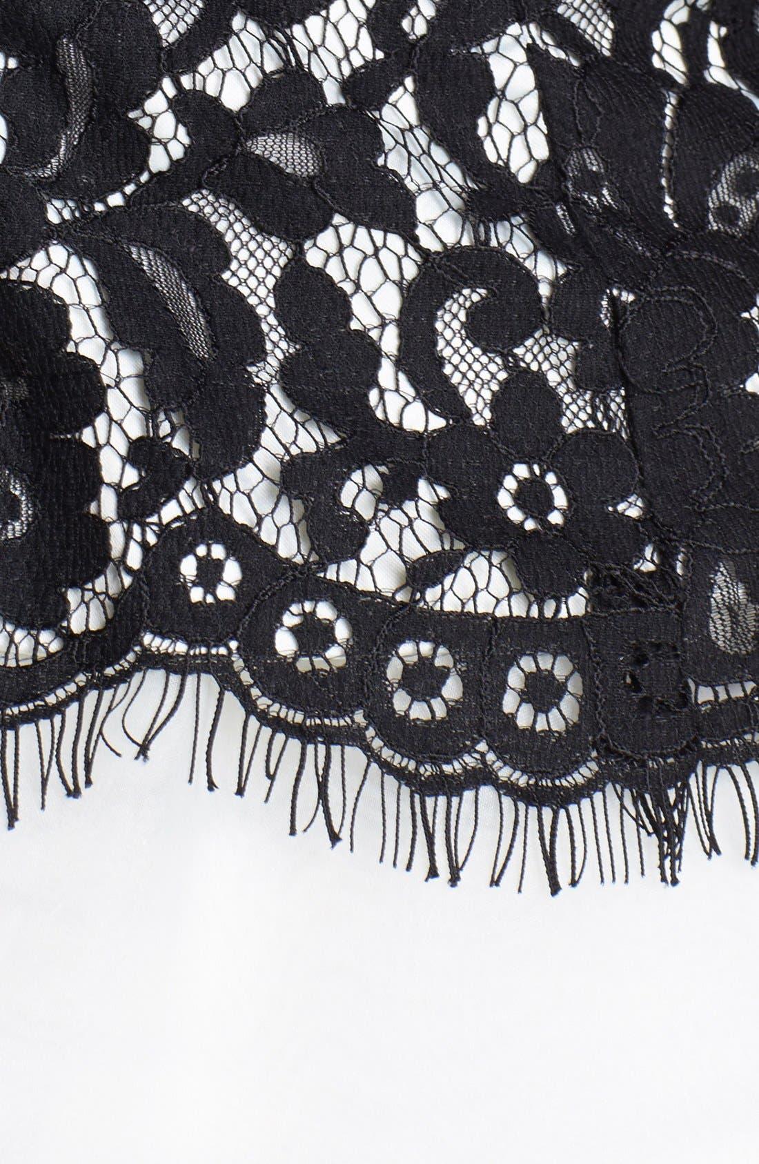 Alternate Image 3  - Eliza J Lace Bodice Fit & Flare Dress (Petite)