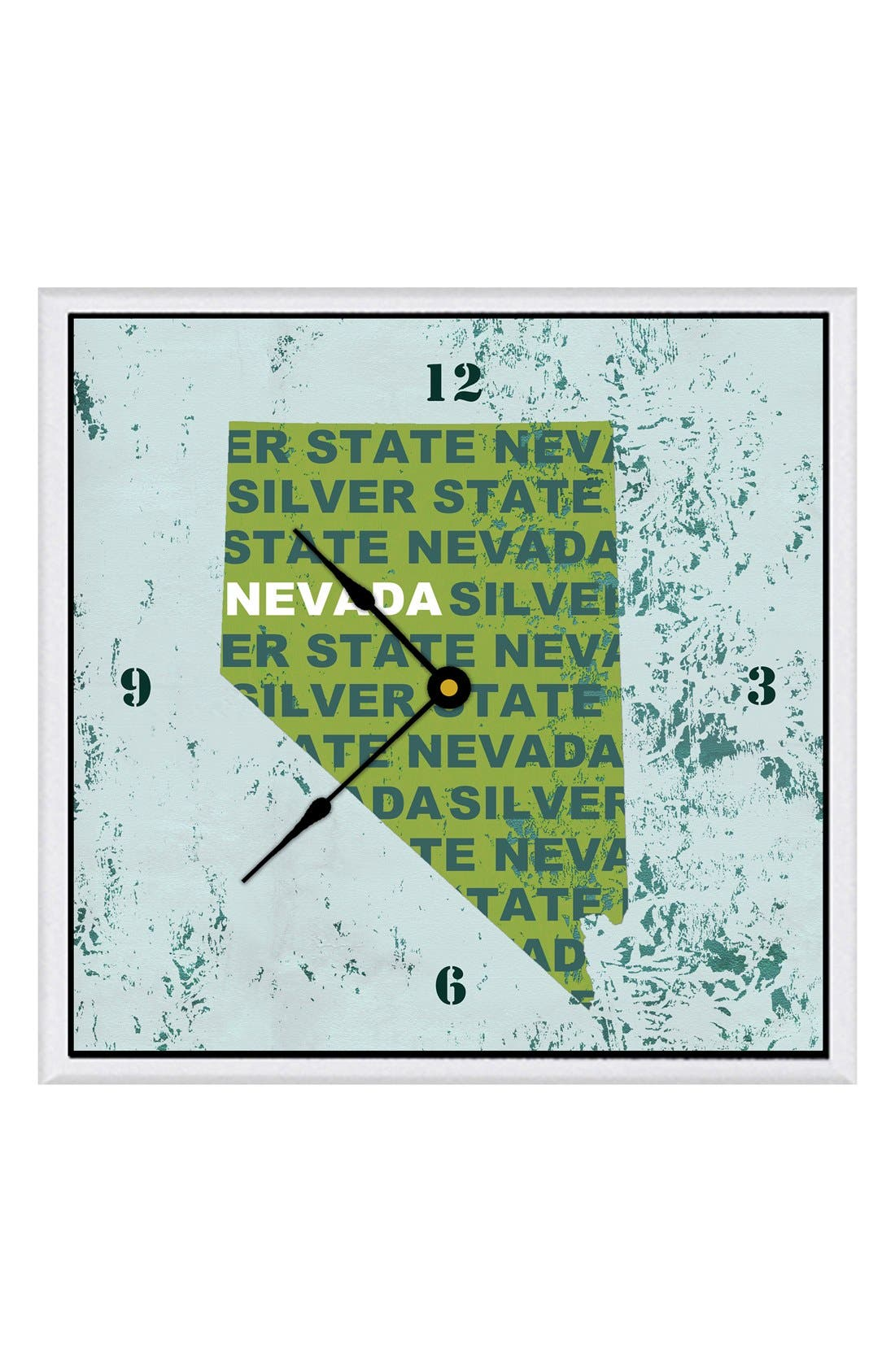 Main Image - Green Leaf Art 'State Texture' Clock