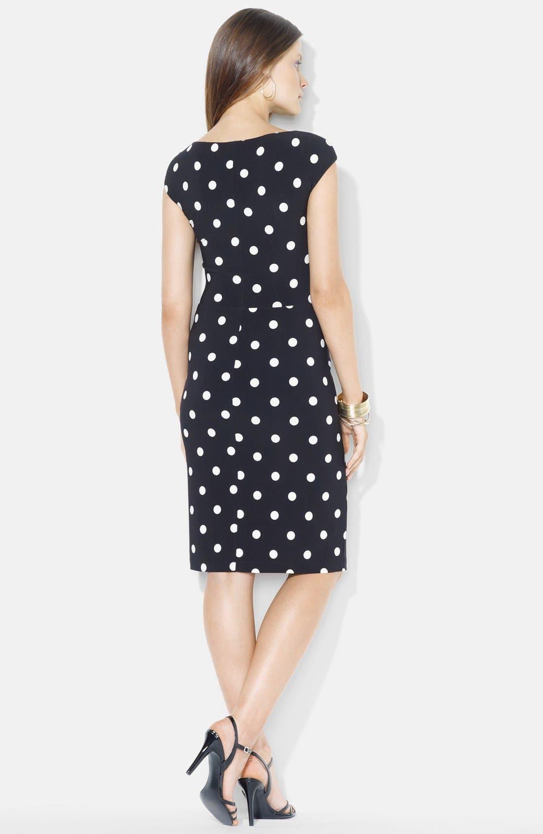 Alternate Image 2  - Lauren Ralph Lauren Knot Front Print Jersey Sheath Dress