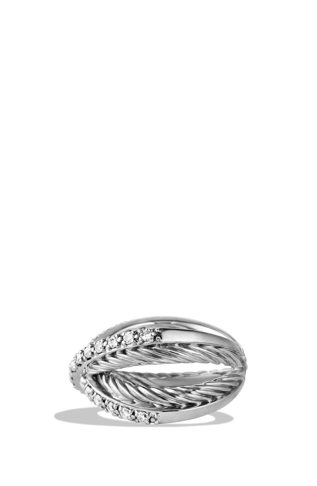 Alternate Image 4  - David Yurman 'Crossover' Pavé Diamond Ring