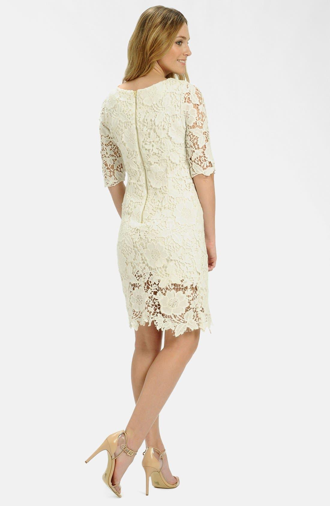 Alternate Image 2  - LABEL by five twelve Foiled Lace Sheath Dress