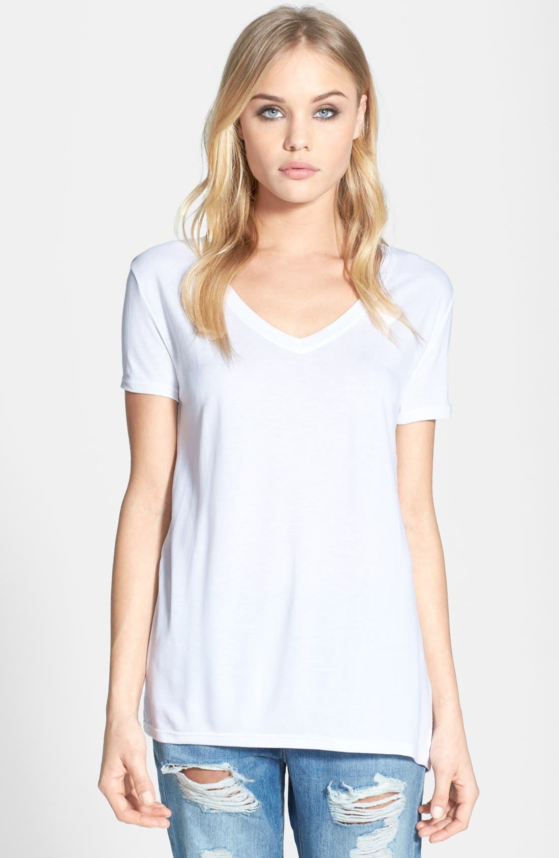 Alternate Image 1 Selected - Topshop V-Neck Tee