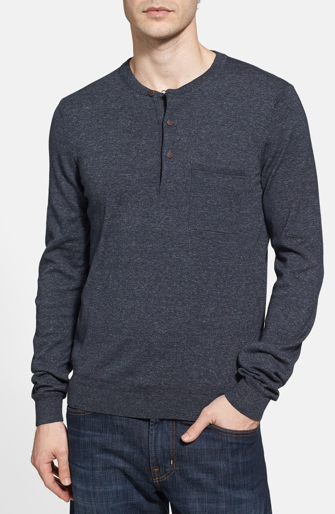 Main Image - BOSS HUGO BOSS 'Pilgrim' Henley Sweater