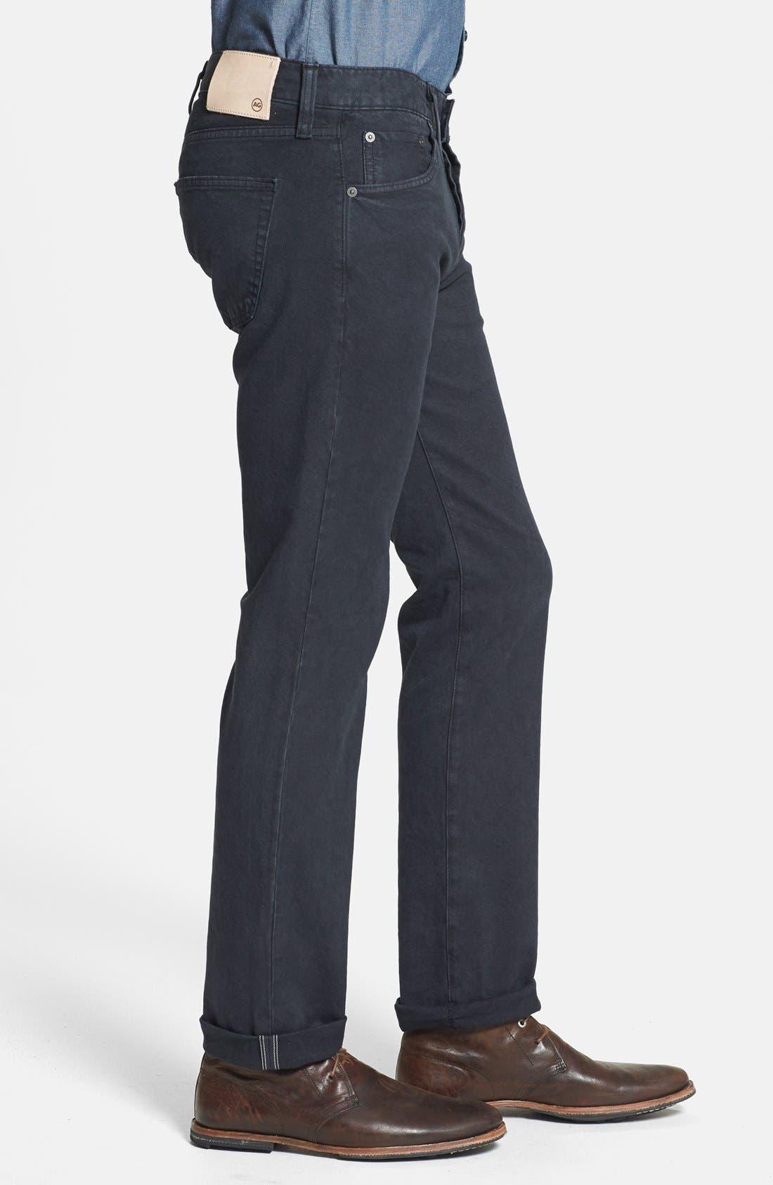Alternate Image 3  - AG 'Matchbox' Slim Fit Selvedge Jeans (True Black)