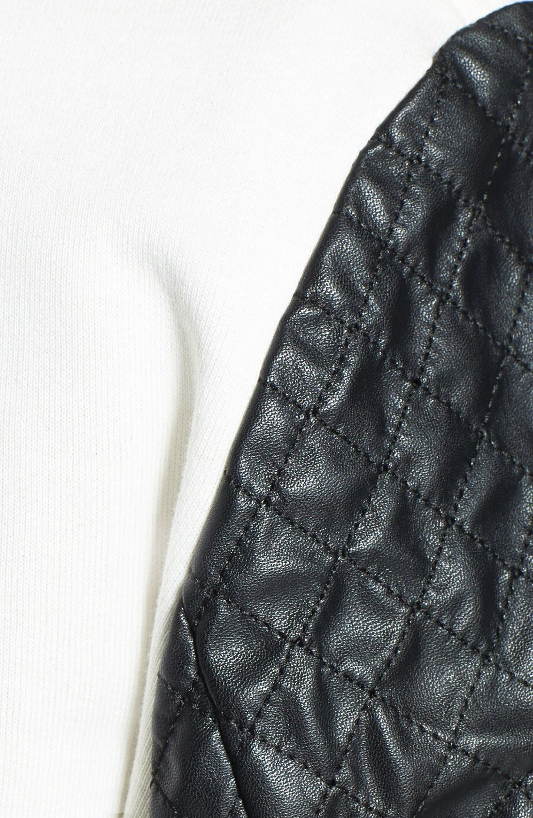 Alternate Image 3  - Pam & Gela Quilted Faux Leather Bomber Jacket