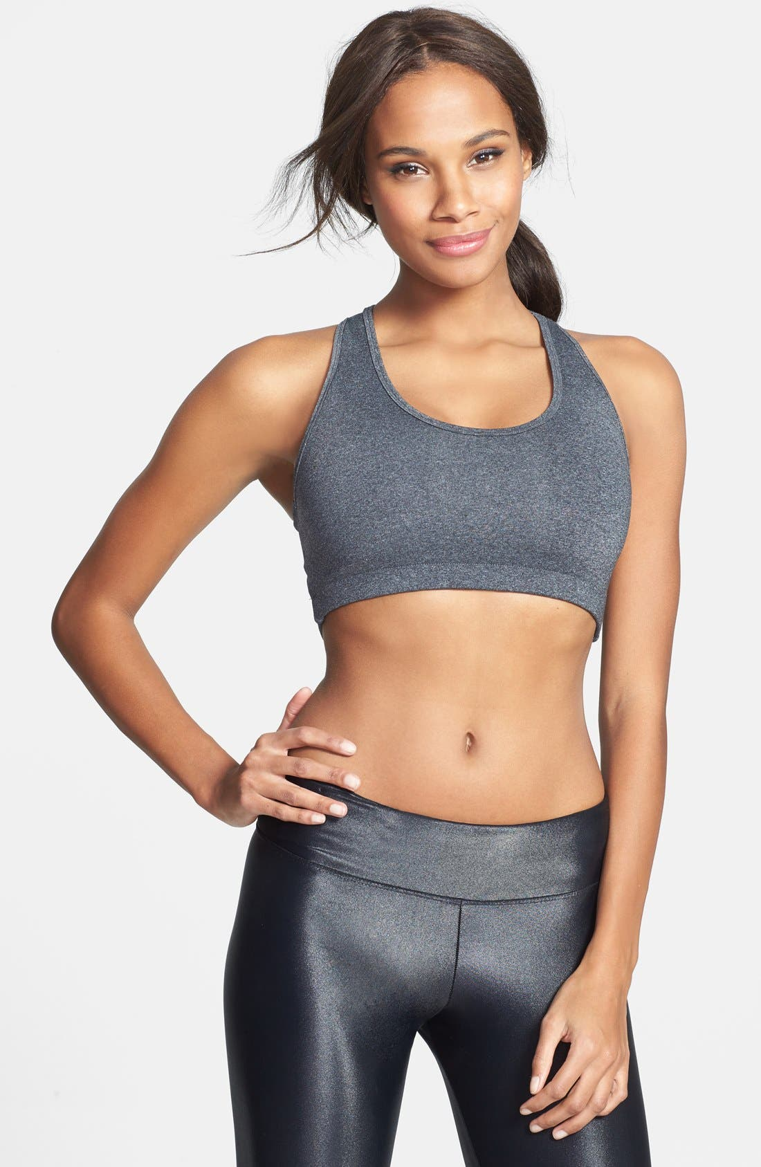 Alternate Image 2  - Koral Cutout Racerback Sports Bra
