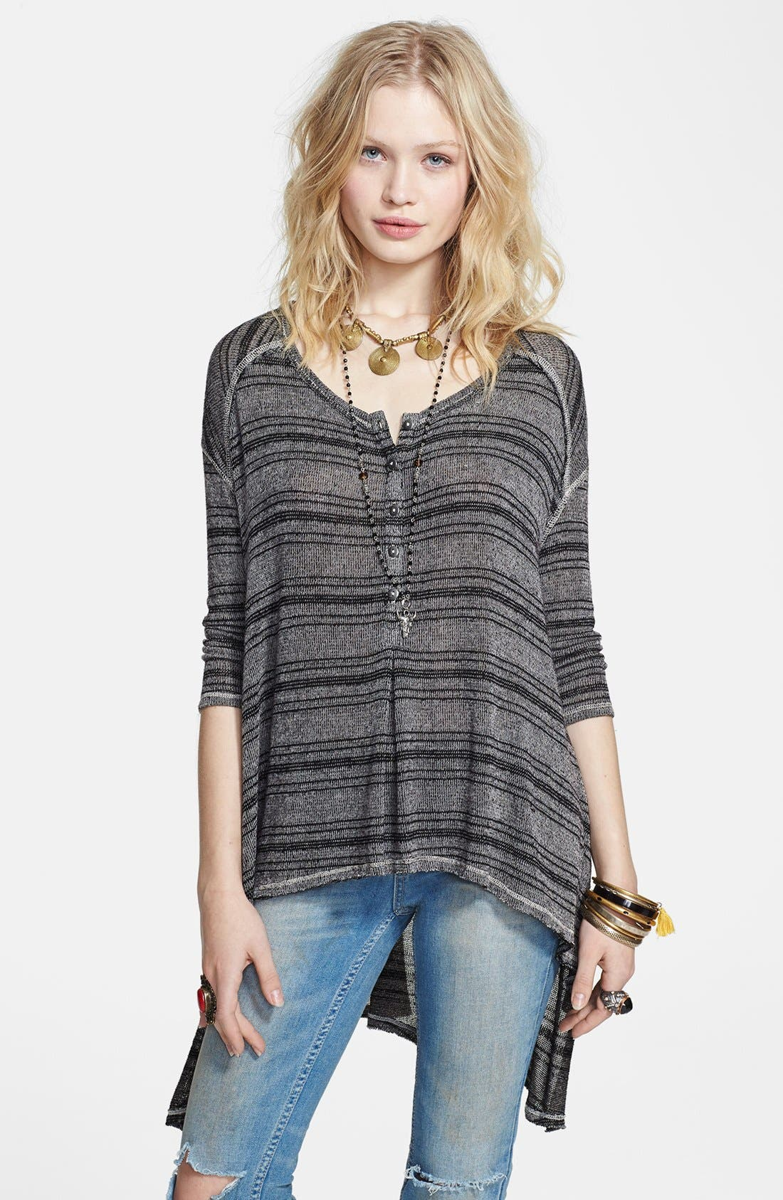 Main Image - Free People Stripe Knit Pullover