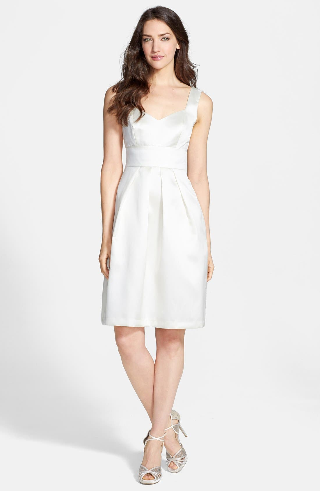 Alternate Image 3  - Alfred Sung Sateen Twill Fit & Flare Dress