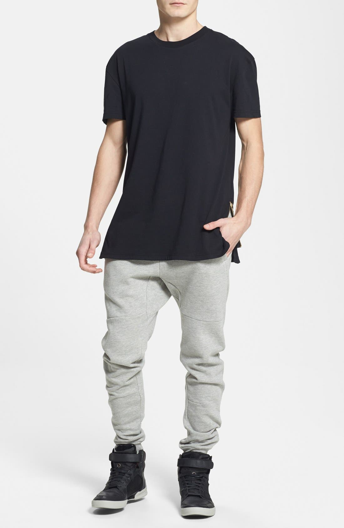 Alternate Image 3  - Topman Skinny Fit Jogger Pants with Zip Hems