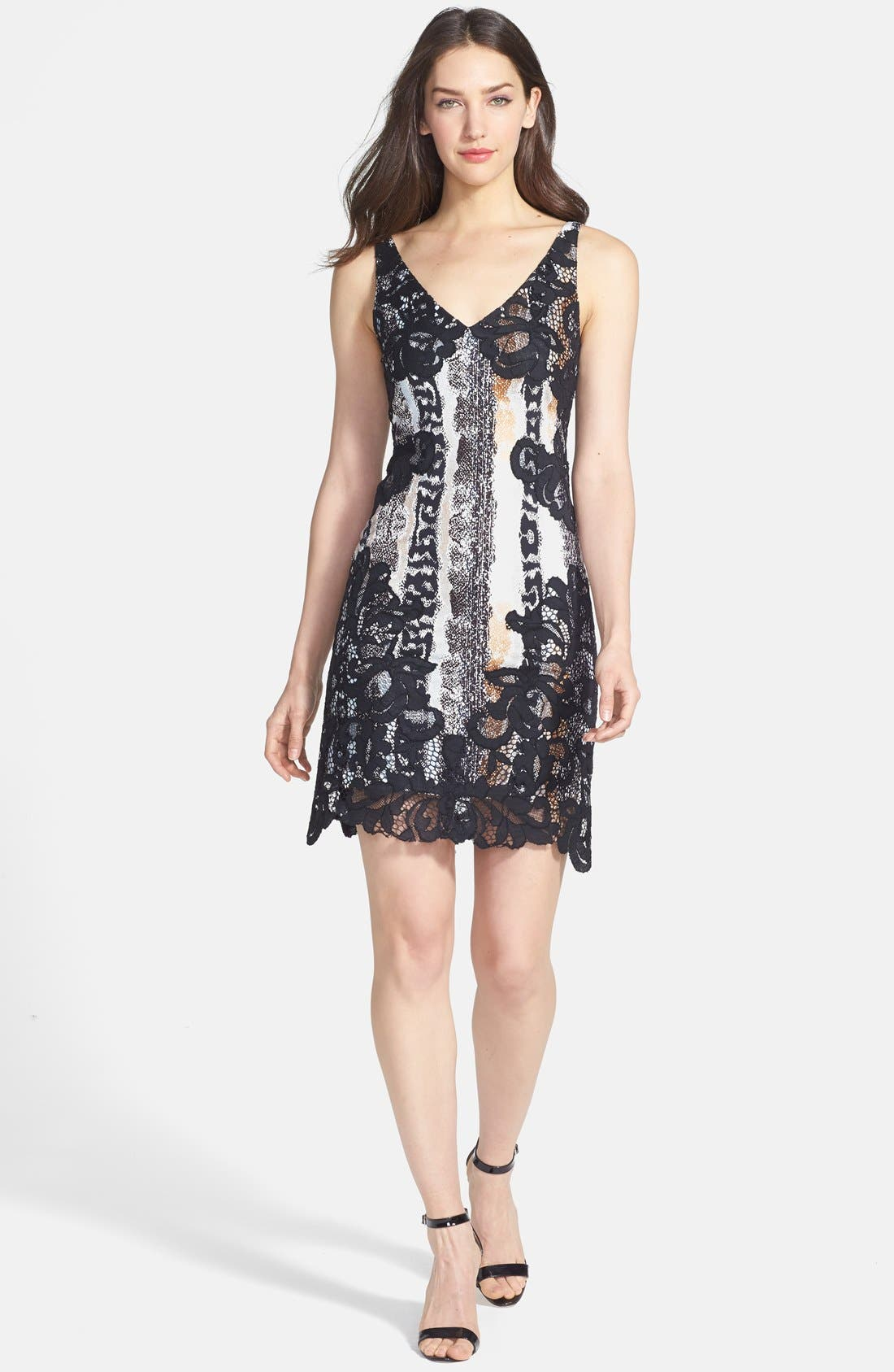 Alternate Image 1 Selected - Diane von Furstenberg 'Sara' Print Woven A-Line Dress