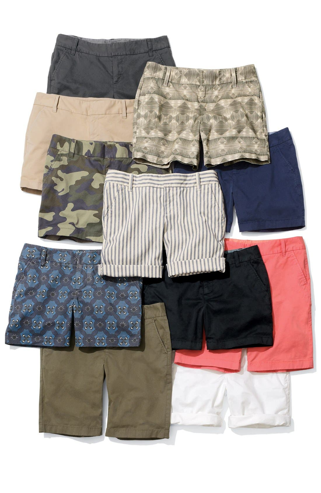 Alternate Image 4  - Caslon® Clean Front Nine-Inch Shorts (Regular & Petite)