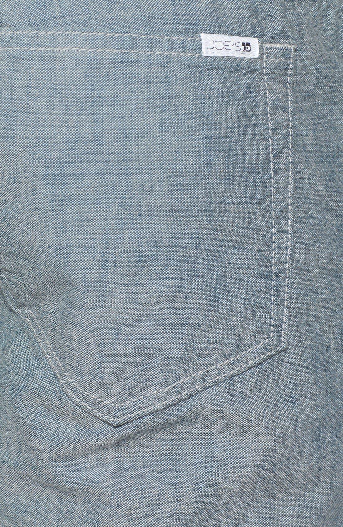 Alternate Image 4  - Joe's 'Brixton' Slim Fit Canvas Denim Jeans (Sidewalk)