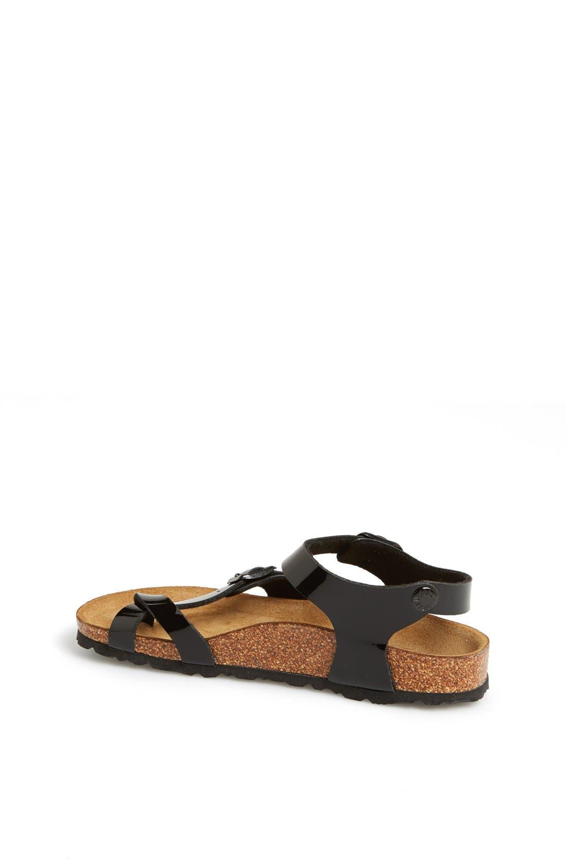 Alternate Image 2  - Birkenstock 'Taormina' Patent Sandal (Walker, Toddler & Little Kid)