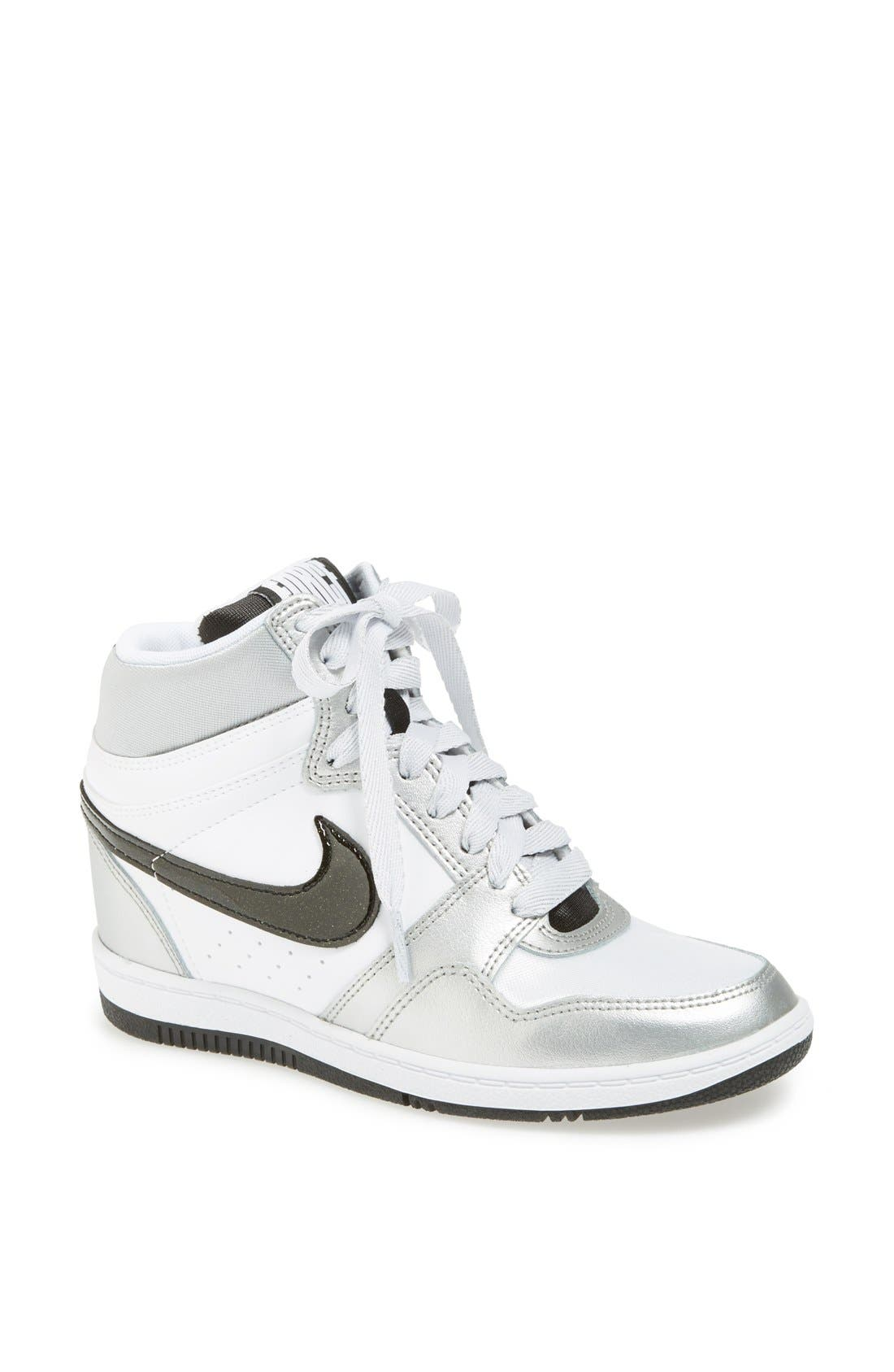 Alternate Image 1 Selected - Nike 'Force Sky Hi' Wedge Sneaker (Women)