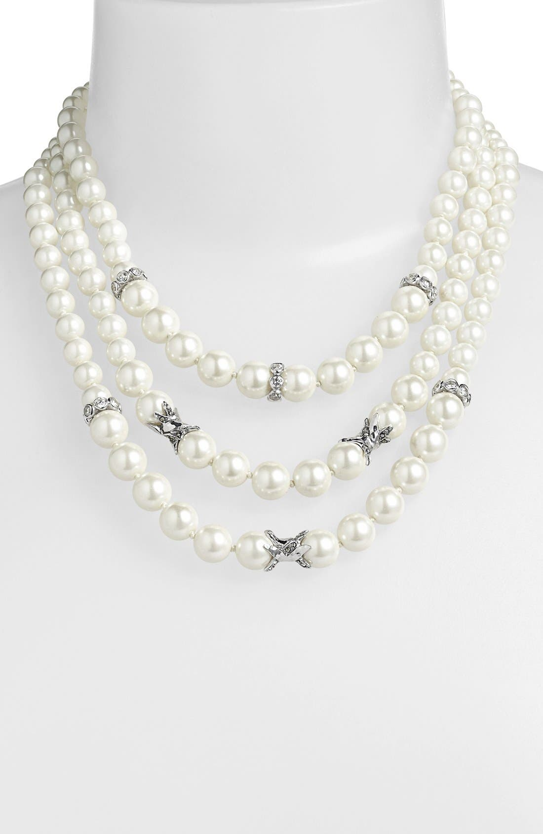 Main Image - Judith Jack 'Pearl Romance' Faux Pearl Multistrand Necklace